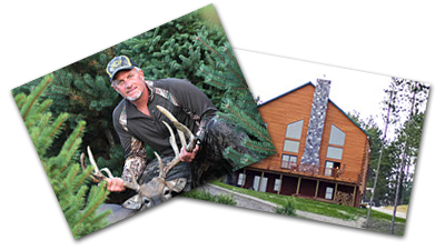 Whitetail deer hunting lodge photos